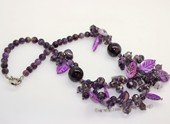 gsn210 Stylist Amethyst and Shell Beads Princess Necklace