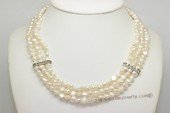 Mpn411 Fashion two strand 6-7mm white nugget pearl necklace