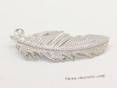 sbrm017 Sterling Silver Feather Design Mounting For Brooch