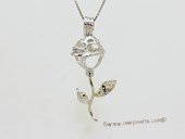 Swpm061 Wholesale Flower Design Cage Pendant in Sterling Silver